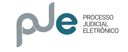 Figura com o logotipo do PJE