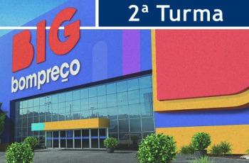 Ilustração com fachada do supermercado Bompreço