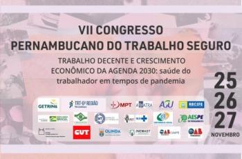 Banner do VII Congresso Pernambucano de Trabalho Seguro