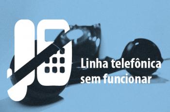 Ilustração de um telefone com uma tarja preta, indicando defeito
