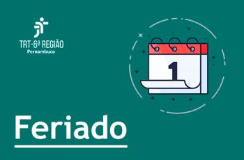 Imagem de um calendário e a inscrição 'Feriado na VT'