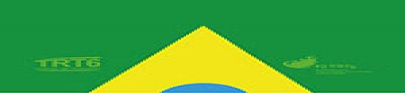 Ilustração com referência à Bandeira do Brasil e logotipos da Escola Judicial e do TRT6