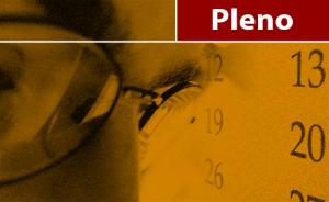 """Ilustração com olhos de uma pessoa e um relógio de fundo. No topo da figura, há o texto """"Pleno"""""""