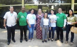 Participantes da ação na Policlínica João Barros Barreto