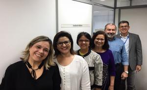Foto com a equipe da SAS e da empresa de auditoria