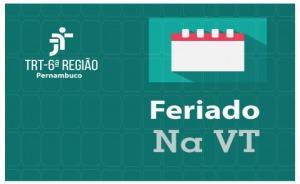 """Ilustração com calendário e a inscrição """"Feriado na VT"""""""